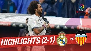 Resumen de Real Madrid vs Valencia CF (2-1)