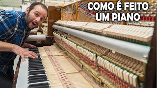 Como é feito um piano #Boravê