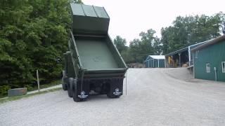 m929 green military dump truck C&C Equipment 812-336-2894 ccsurplus.com