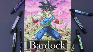 Drawing Bardock | FighterZ | My Biggest drawing yet!