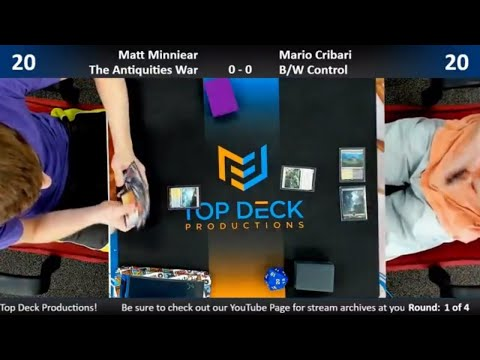 Standard w/ Commentary 5/2/18: Matt Minniear (Antiquities War) vs. Mario Cribari (B/W Control)