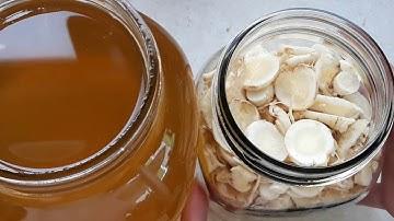 아토피와 기침 감기 폐 관리에 좋은 도라지 효소 만들기.