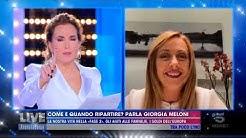 Non perdete Giorgia Meloni in diretta a Live-Non è la D'Urso su canale5. Da ascoltare e diffondere