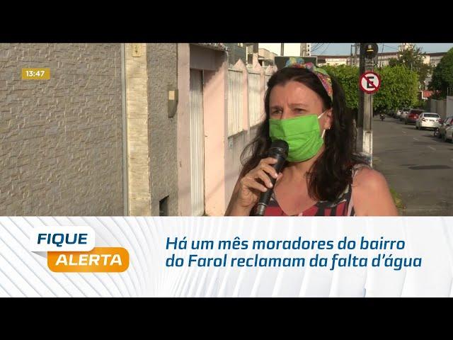 Há um mês moradores do bairro do Farol reclamam da falta d'água na Rua Alexandre Nobre