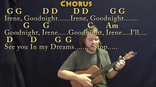 Goodnight, Irene (Traditional) Bariuke Cover Lesson in G with Chords/Lyrics
