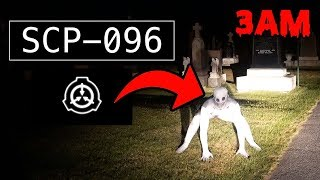 DONT GO TO A HAUNTED CEMETERY AT 3AM OR SCP 096 WILL APPEAR! | THE RAKE CAUGHT ON CAMERA AT 3 AM!