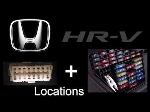 Honda Fit 2015 2016 2017 and HR V 2016 2017 OBD Port  Fuse Box