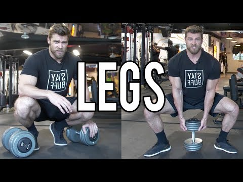 LEGS DUMBBELL ONLY WORKOUT (at home or gym) | Dumbbell Workout Plan P4D1