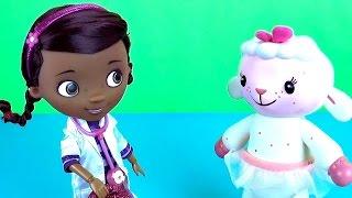 Доктор Плюшева все серии подряд. Куклы для девочек. Doc McStuffins suitcase set playing toys doll