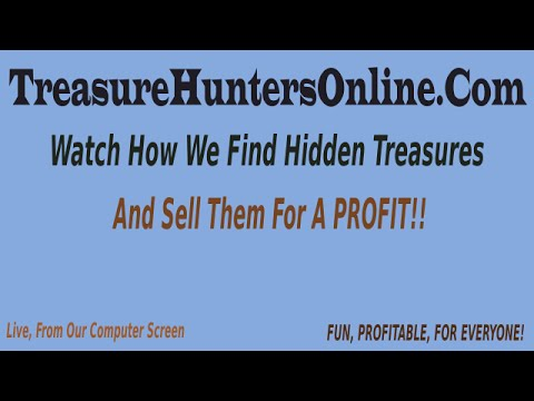 Earn an extra INCOME through Bargain & Treasure Hunting Online:  Treasure Hunters Online.