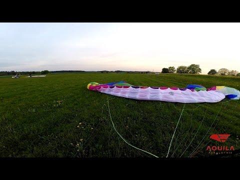 test nowego skrzydła - lot paralotnią, Aeroklub Słupski
