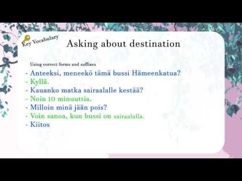 Aura's Finnish Lesson Situations: In a Bus