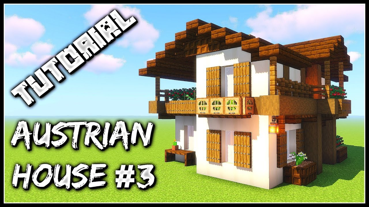 How To Build An Austrian House 3 Minecraft Tutorial Youtube