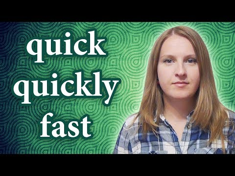 Fast vs quick, quickly - common mistakes in English + rapid, speedy