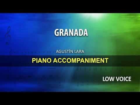 GRANADA / Lara: Karaoke + Score guide / Low Voice