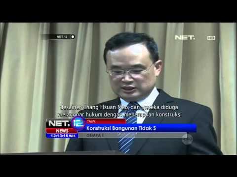 Kejaksaan Kota Tainan, Taiwan Menahan 3 Kontraktor Gedung Yang Roboh Saat Gempa - NET12