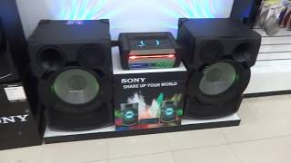 Sony Shake X70D Hifi Sound System Display Demo