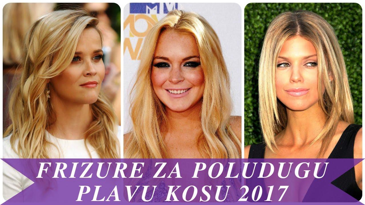 Frizure za poludugu plavu kosu 2017 - YouTube