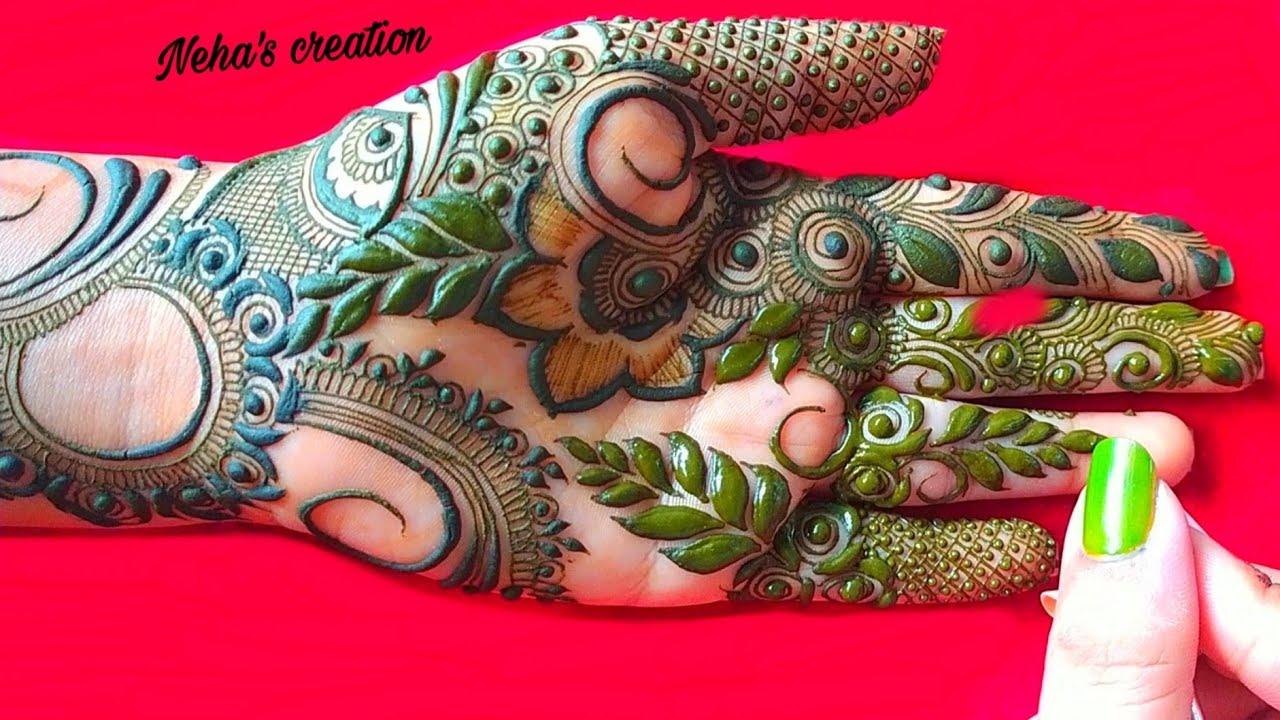 Gulf henna design ll gulf + dubai style mehandi design ll unique beautiful design for front hand #27