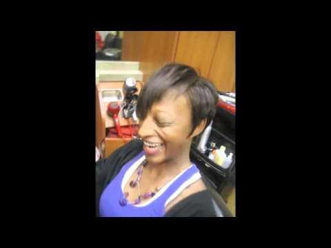 Rihanna Inspired hair cut at HAIR ESCAPADES