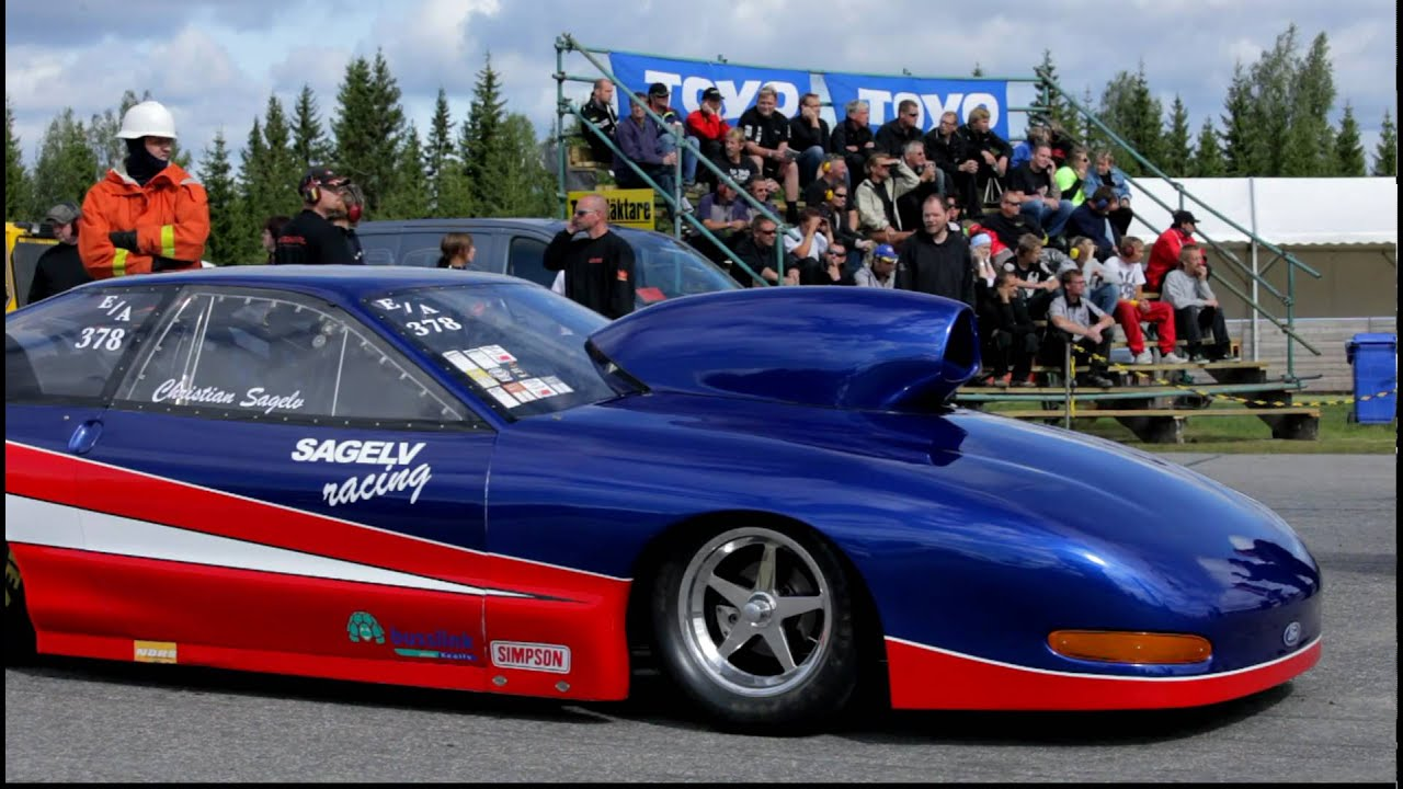 Sundsvall Raceway Aug Christian Sagelv Jerry Haas Ford Probe