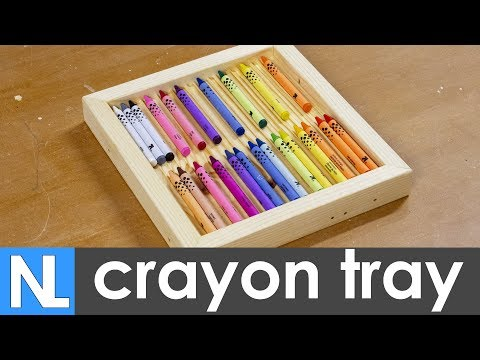 🎁 Making a crayon tray // simple home made woodworking gifts for kids