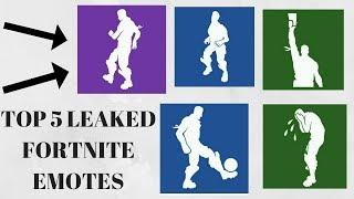 TOP 5 LEAKED FORTNITE EMOTES! | FORTNITE BATTLE ROYALE