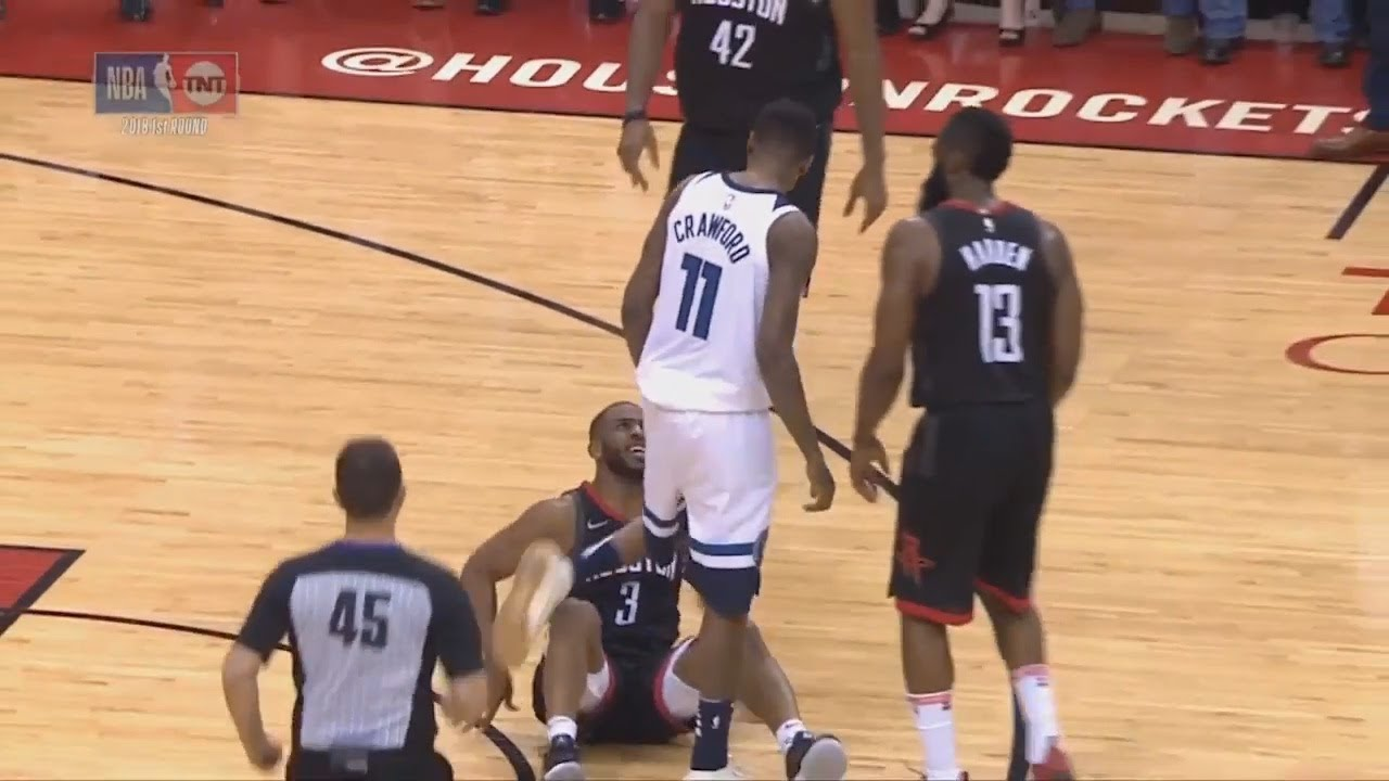 Jamal Crawford Throws Chris Paul To The Ground Then Taunts ...