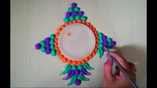 Super simple and easy rangoli design
