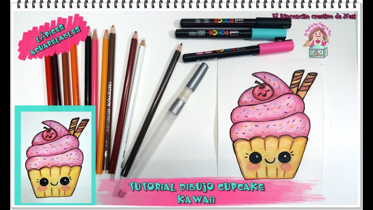 C mo dibujar cupcake kawaii youtube - Como decorar un dibujo de una castana ...