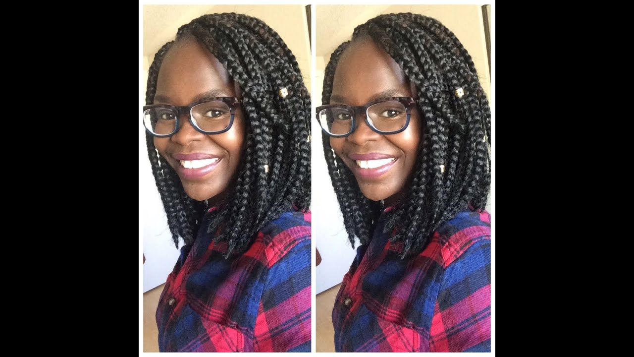Crocheted/ Traditional Box Braids Bob - YouTube