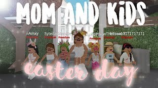 mom & kids EASTER day ♡ easter special | bloxburg roleplay | alixia