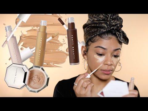 NEW Fenty Beauty Concealers & Setting Powders...Goodbye Edges | jasmeannnn