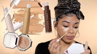 NEW Fenty Beauty Concealers & Setting Powders...Goodbye Edges | jasmeannnn