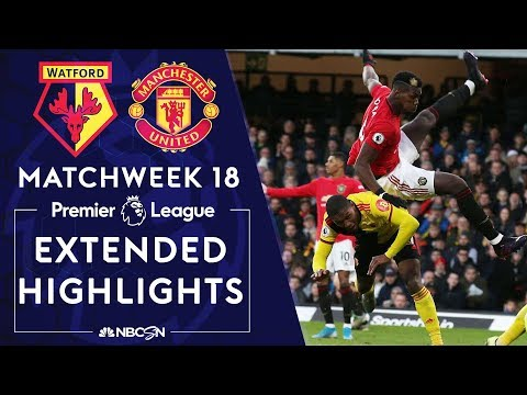 Watford v. Manchester United | PREMIER LEAGUE HIGHLIGHTS | 12/22/19 | NBC Sports