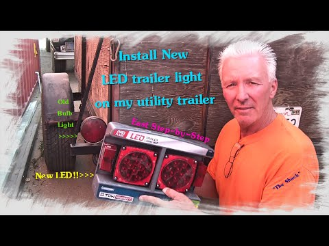 How to Install and upgrade to LED lights on a trailer