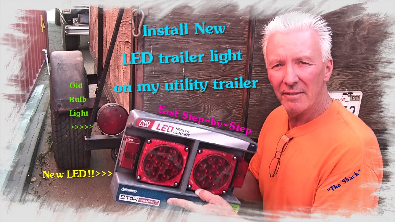 how to install and upgrade to led lights on a trailer [ 1280 x 720 Pixel ]