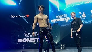 FANCAM - Wonho shirtless in Newark - 180722