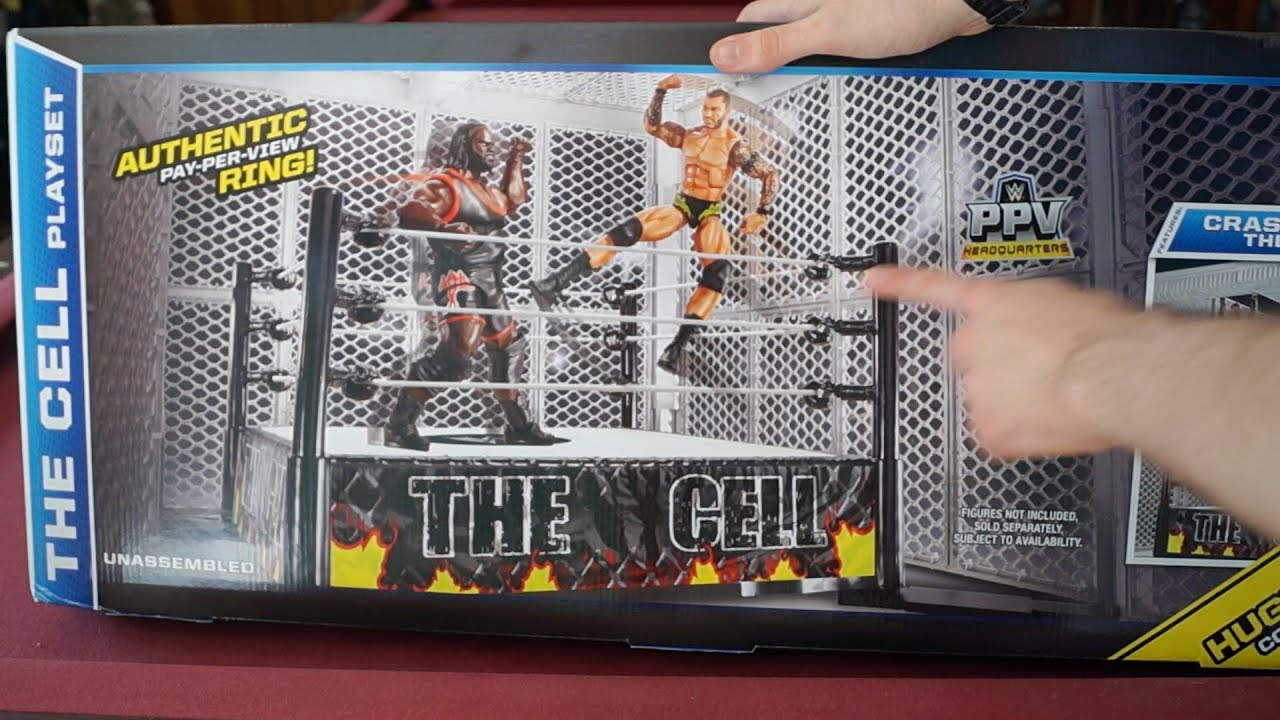 Toys R Us Wwe Rings : Wwe the cell playset ring toys r us exclusive unboxing