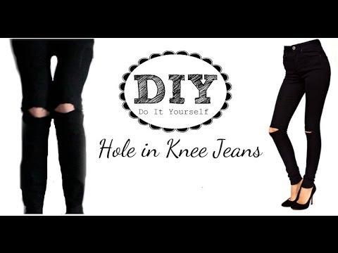 DIY: Hole In KneeRipped Jeans Tutorial | BellaStyle14
