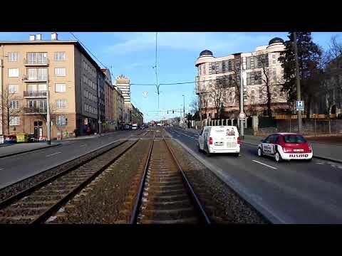Prague tram line 13 (Cernokostelecka - Cechovo namesti)