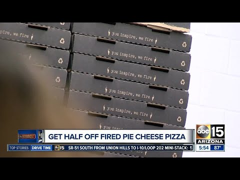 DEAL! Get a Fired Pie cheese pizza half off with drink Tuesday only!