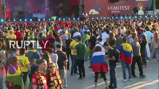 Live: Fans watch Belgium vs Japan game at Moscow's FIFA Fan Fest