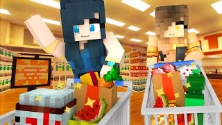 Minecraft Grocery - FUNNEH & GOLD GO TO THE GROCERY STORE! (Minecraft Roleplay)