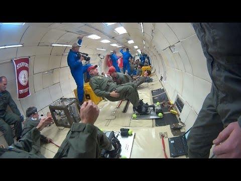 Stanford scientists brave the 'vomit comet' to improve astronauts' heart health
