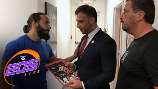 "Tony Nese and Drew Gulak exchange ""gifts"" before their match on 205 Live: Exclusive, Feb. 9, ,2018"