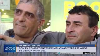 Córdoba: excombatientes de Malvinas se encuentran tras 37 años