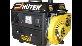 видео Huter DY2500L портативный бензиновый электрогенератор