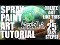Spray Paint Art Tutorial Planet and Mountains - Spray Art Tutorial Planet and Mountains - Spray Art