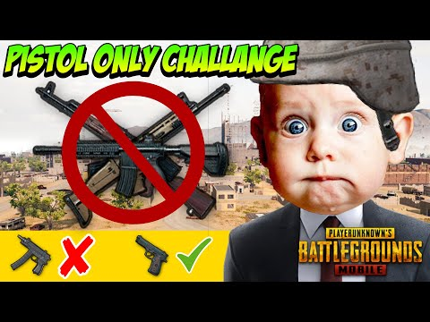 Pistol Only Challenge - Gone Wrong 😭 - PUBG Mobile Funny Moments | Winstoner Playz #1